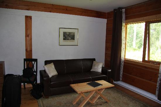 Moul Creek Lodge B & B: Unser Sofa