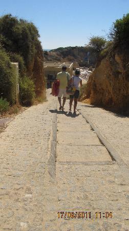 São Rafael Atlântico: Steps (40) down to beach