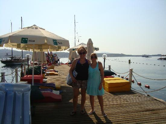 Gumbet Beach Resort: On the pier
