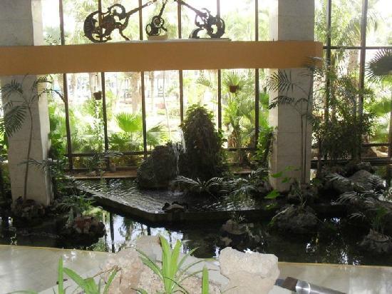 Sol Palmeras: La parte de abajo del lobby...x ahí era una de las salidas al jardín...