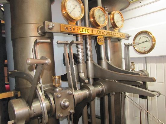 Shelburne Museum: Ferry engine controls