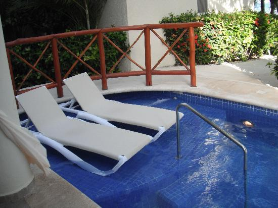 "El Dorado Maroma, by Karisma: Our ""private"" pool area"