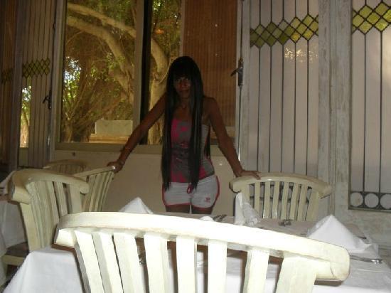 Sol Palmeras: Restaurant bufette...el vip con vista al jardín de atrás...