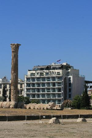 The Athens Gate Hotel: The Athens Gate from the Temple of Zeus