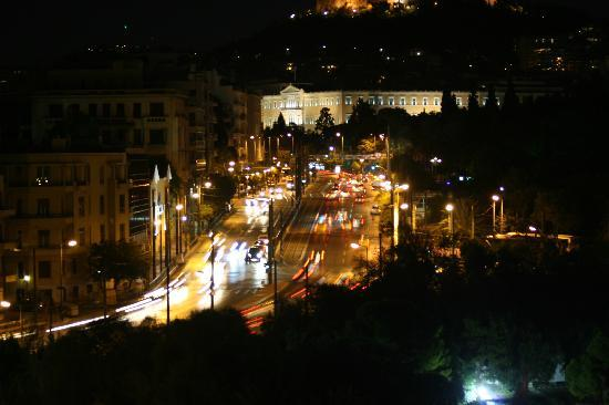 The Athens Gate Hotel: Towards Syntagma Square from the balcony