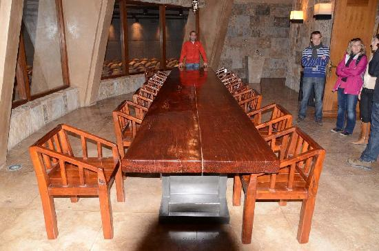 Bodega Catena Zapata: Wine Tasting Room and the Huge Table