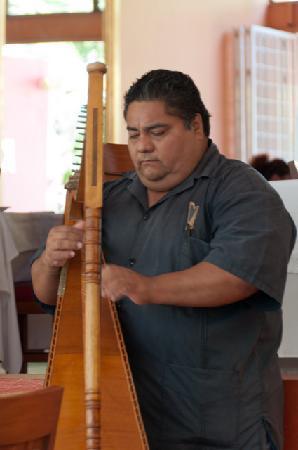 River Cafe: fantastic harpist!