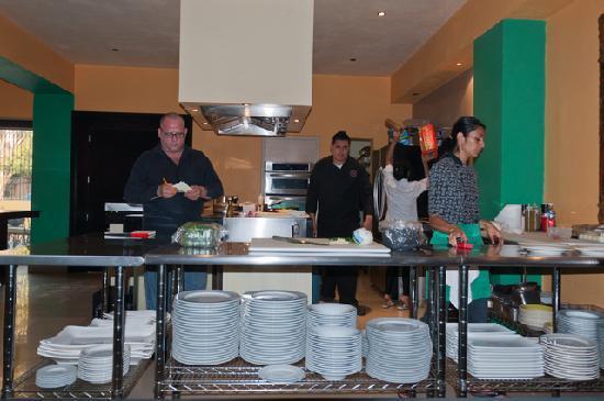 Teatro Limon: the open kitchen