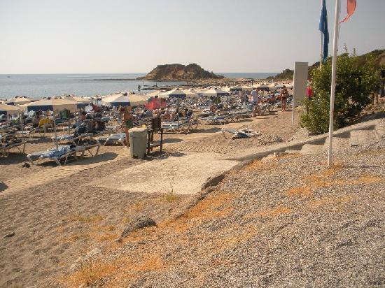 Rodos Princess Beach Hotel: ingresso spiaggia