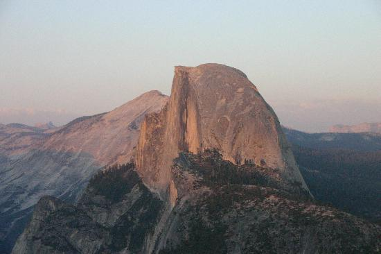 Sunset - Half Dome and Clouds' Rest from Glacier Point