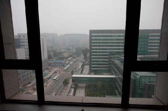 โรงแรมฮิลตัน ปักกิ่ง แวงฟูจิง: View from our deluxe room