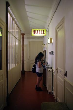 La Pension Edelweiss: the hallway