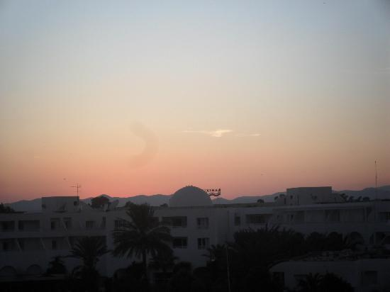 Iberostar Averroes: not the best sunset we saw, but not a bad view