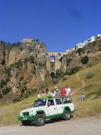 Monte Aventura, Andalucia Ecotours: Happy group of travellers in Ronda Gorge