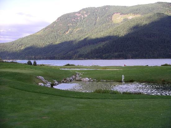 Sandpiper Golf Course: View from the 18th green approach
