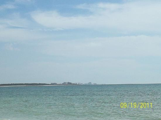 Honeymoon Island State Park: Clearwater in the distance