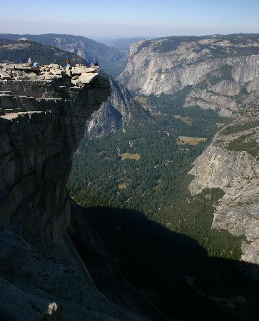 "Half Dome: Sitting on the ""Diving Board"""