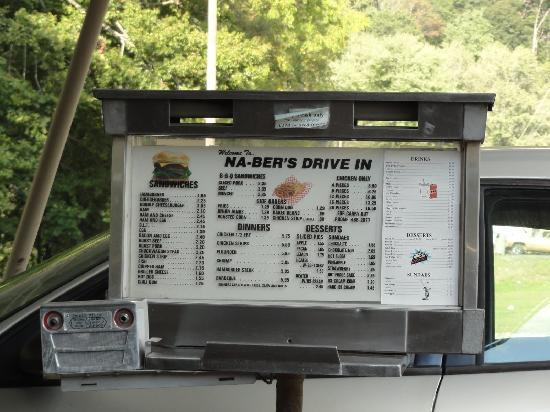 NA-BERS Drive-In: The menu