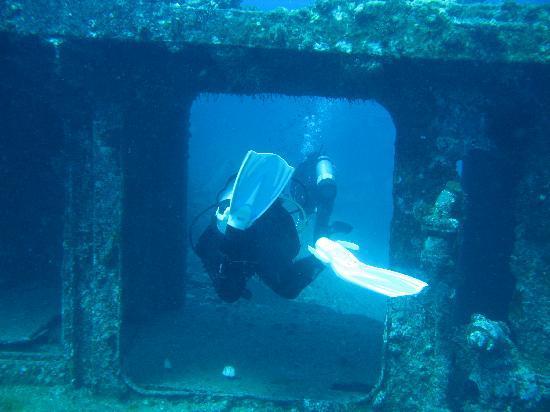 Hawaii Nautical: Swim through on the Mahi