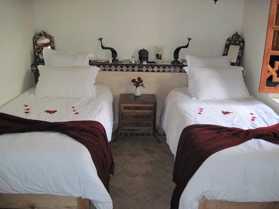 Riad Les Trois Palmiers El Bacha: Our room