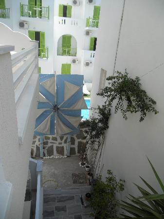 Hotel Paros: view from my balcony