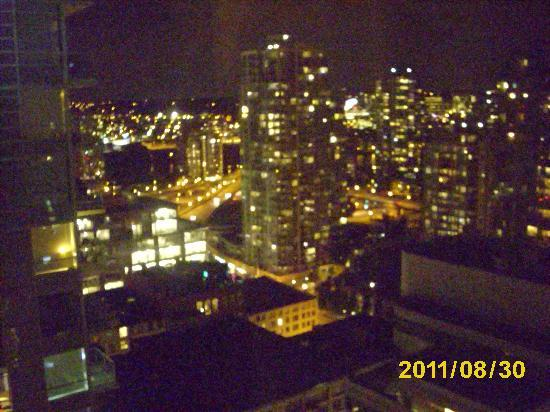 Rosedale on Robson: Vancouver by night from our window