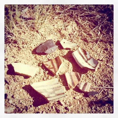 New Mexico Jeep Tours: pottery pieces.