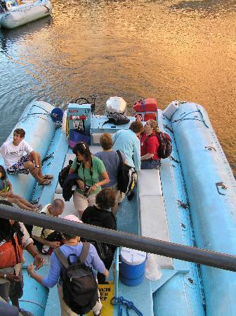 Colorado River Discovery: Boarding the raft