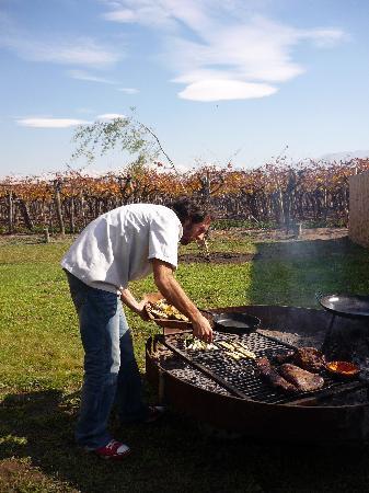 Lujan de Cuyo, Argentina: ASADO EN EL TRAPICHE