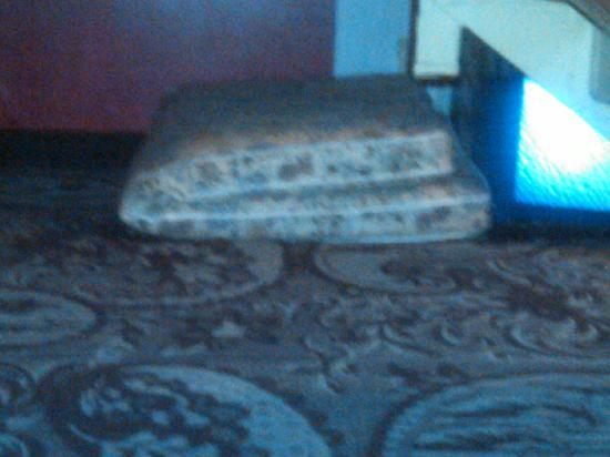 Ramada Plaza by Wyndham Albany: Random Mattress under the stairs in the hallway