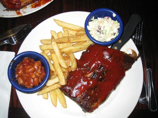 Hard Rock Cafe London: half rack ribs