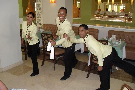 Now Larimar Punta Cana: our preferred servers. Mayra, David & Raul