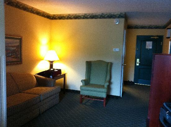 Country Inn & Suites By Carlson, St. Paul Northeast: Living room area of our room.