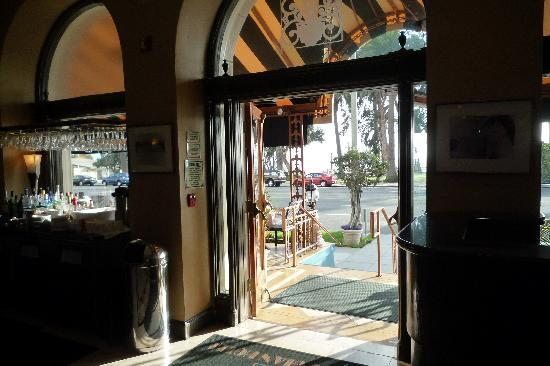 The Georgian Hotel: hotel entrance