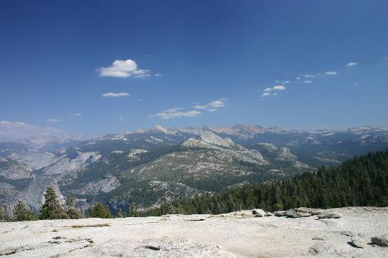 Little Yosemite Valley and the Clark Range from Sentinel Dome