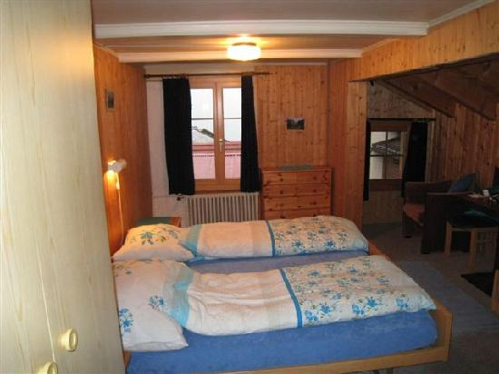 Chalet Fontana: Room #2, in the front w/great view and sink in room!