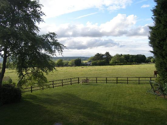 Mole End: View from Hornbeam room over countryside