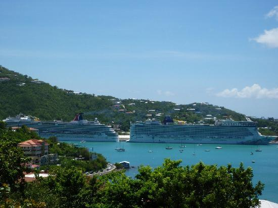 99 Steps: View of Charlotte Amalie Harbor