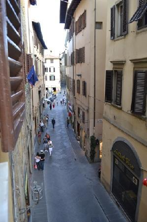 Hotel Cristina: view of street from the room