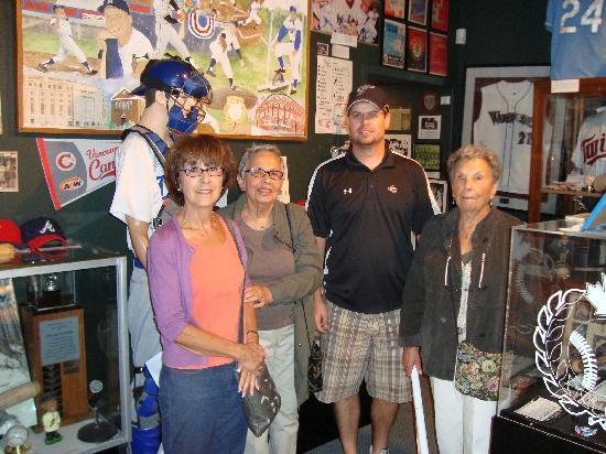 Canadian Baseball Hall of Fame & Museum: Us with Scott, Director of the Museum