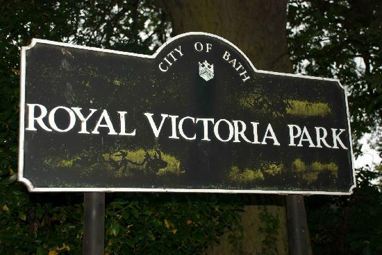 Royal Victoria Park: Park sign
