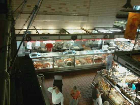 West Side Market: Great selection of fresh cut meats and smoked meats