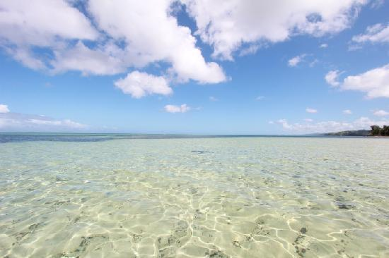 Wellesley Resort Fiji: Shallow & chrystal clear water with sand floor