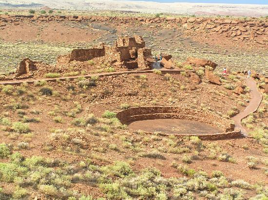 Wupatki National Monument: Looking toward the athletic field