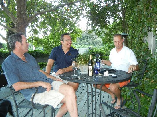 Chateau de Vie: Visiting with the owners