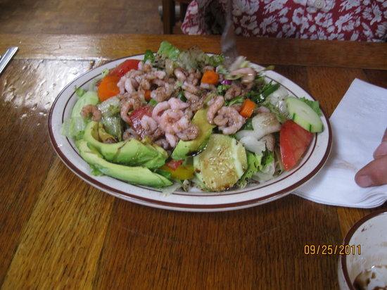 Don Taylor's Omelette Express: Shrimp salad