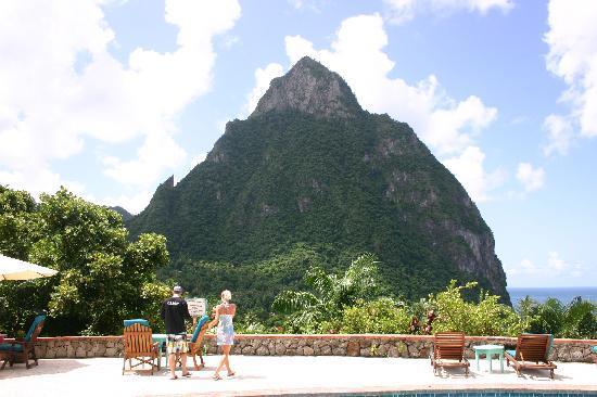 Stonefield Villa Resort: View from Mango Tree restaurant