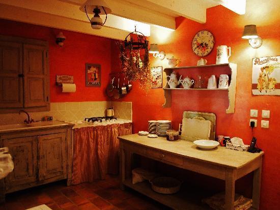Le Mas du Haut-Roussillac: Guest kitchen
