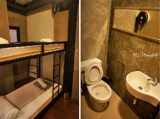 Bed Bangkok Hostel: Double decker with ensuite bathroom