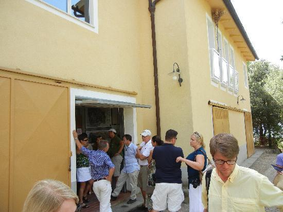 Franco Wine Tour Experience: Waiting in line to purchase bottles of  Brunello